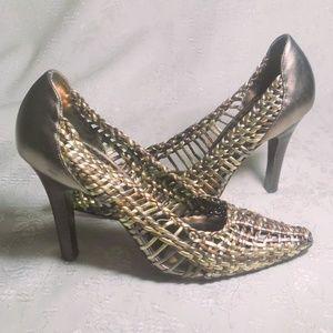 Steve Madden Keera Metallic Leather High Heels